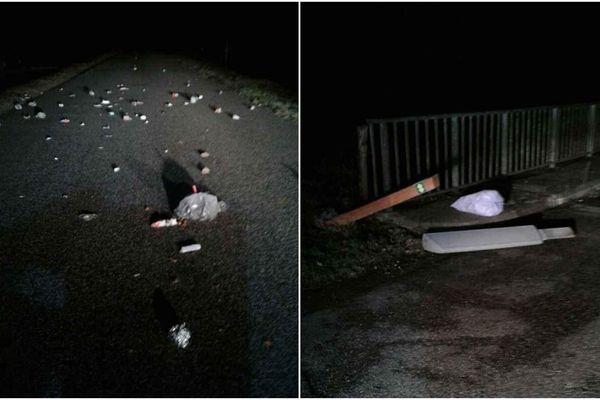 Des déchets ont été éparpillés sur les routes de Haute-Savoie la nuit pendant des mois