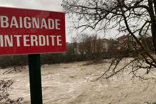 L'eau remonte à Limoux, dans l'Aude