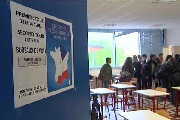 Les lycéens de Montceau-les-Mines se sont exprimés de la même façon que pour le vote du 7 mai prochain