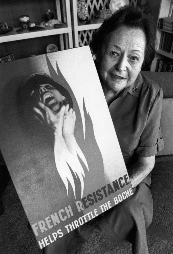 Photo datant du 13 avril 1994 en Australie de Nancy Wake, 87 ans, ancienne résistante australienne ayant combattu dans la Résistance française