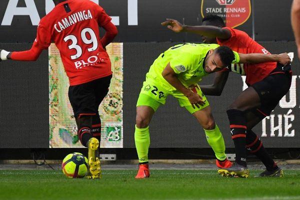 Thiago Maia (ici en jaune) est sensible à l'intérêt porté par le club de Flamengo.