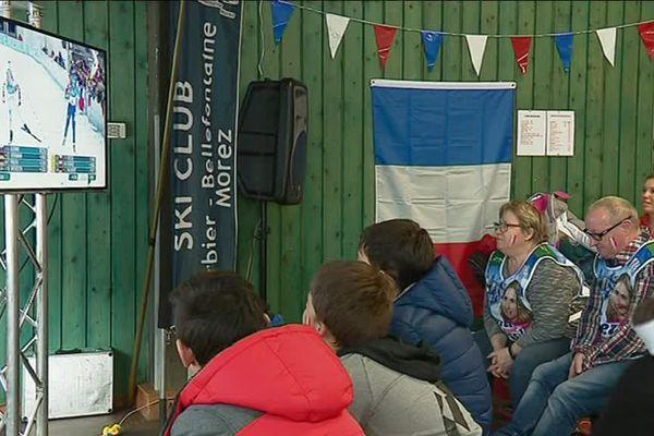 Au ski-club de Morbier, les supporters d'Anaïs Bescond
