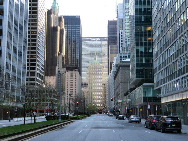 Manhattan désertée pendant la crise du Coronavirus.