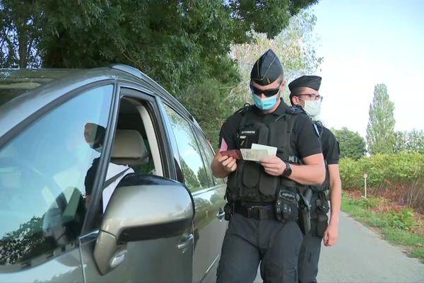 Contrôles routiers de la gendarmerie de Saône-et-Loire dans l'affaire des chevaux mutilés- Septembre 2020