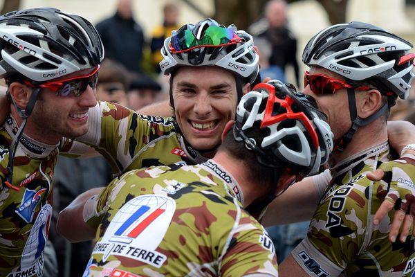 Laurent Jahier, vainqueur du Bordeaux-Saintes le 10/03/2013