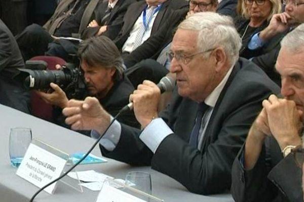 Jean François Le Grand, président dvd du conseil général de la Manche