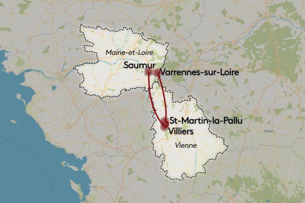 Le suspect aurait agressé et violé une femme âgée à Varennes-sur-Loire (49), vendredi, avant d'agresser une joggeuse dimanche à St-Martin-la-Pallu (86), puis d'enlever et violer une petite fille à Villiers avant d'être arrêté lundi à Saumur.