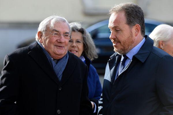 Jean-Claude Antonini, ici à gauche aux cotés de Frédéric Beatse, lors des obsèques de Jean-Monnier le 30 octobre 2018