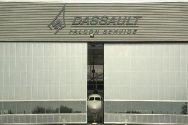 L'usine Dassault de Mérignac en Gironde où sont assemblés les avions Falcon