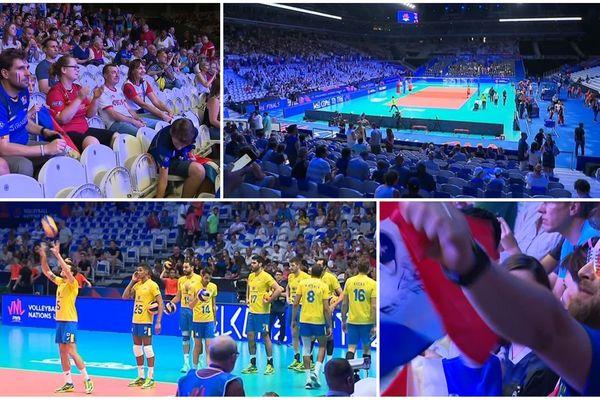 Les Bleus vainqueurs du Brésil mercredi soir lors de la première journée de la Ligue des nations de volley à Villeneuve d'Ascq