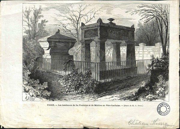 Jean de La Fontaine a débord été inhumé au cimetière des Innocents avant d'être enterré au Père Lachaise.