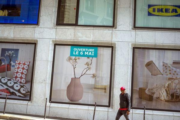 Le magasin Ikea parisien se situe au 23, boulevard de la Madeleine, dans le 1er arrondissement de la capitale.