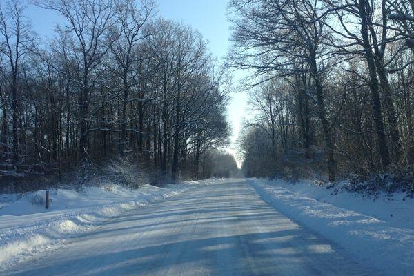 Mercredi matin, la montagne de Reims sous la neige