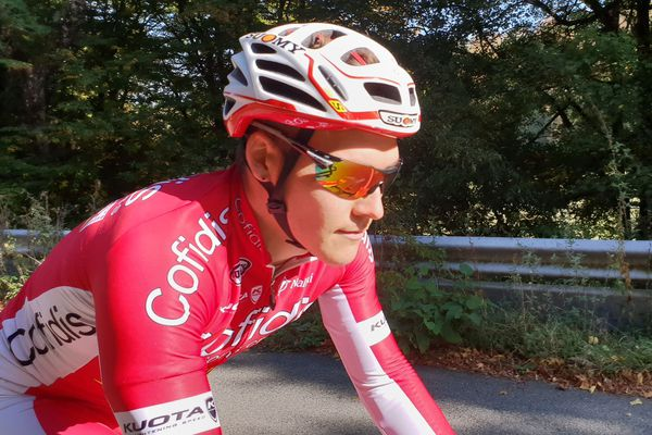 A 24 ans, Hugo Hofstetter, ici à l'entraînement, rêve de disputer un jour le Tour de France.