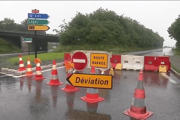 La RN 157 connaît des perturbations à la suite des inondations du mois de juin et des travaux devront être effectués