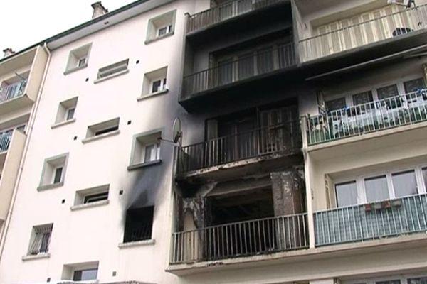 """L'explosion a eu lieu dans cet appartement du quartier de la """"Chiennerie"""", à Nancy."""