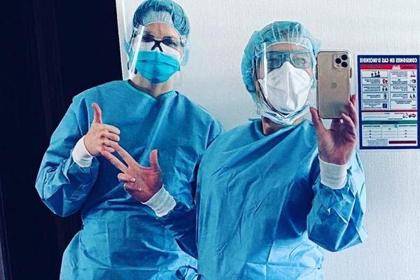 Marie Anselm et sa collègue prennent leur première garde d'urgence dentaire le 5 avril 2020
