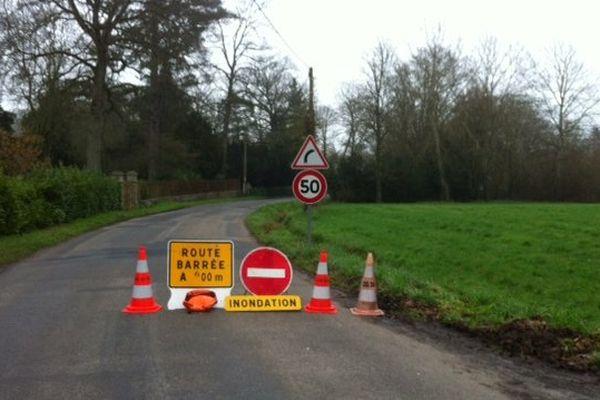 Route coupée à Goven (35) à cause des inondations