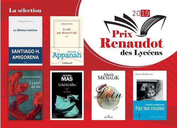 Voici la sélection du Prix Renaudot des Lycéens 2019