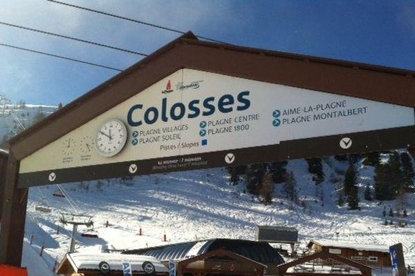 """Inauguration du télésiège """"Colosses"""", à La Plagne"""