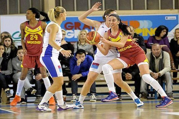 Lattes (Hérault) - Euroligue dames le BLAM battu 77 à 64 par Orenbourg - 15 janvier 2014.