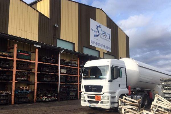 Le site de Steva, entreprise de découpage et d'emboutissage.