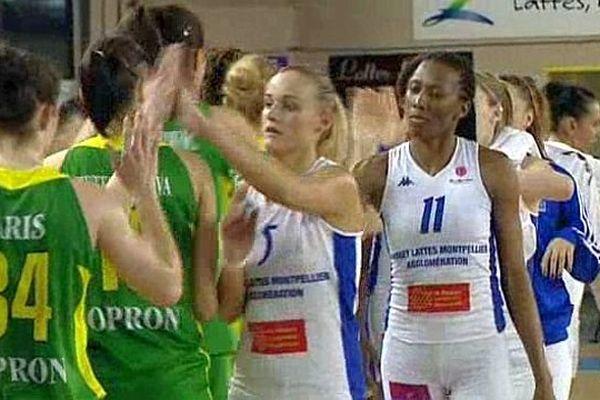Lattes (Hérault) - les basketteuses du BLMA éliminées d'Euroligue 65 à 61 par Sopron - 19 février 2014.