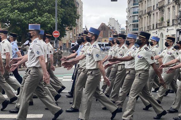 Les applaudissements n'ont pas cessé durant le défilé du 14 juillet 2021 à Lille.