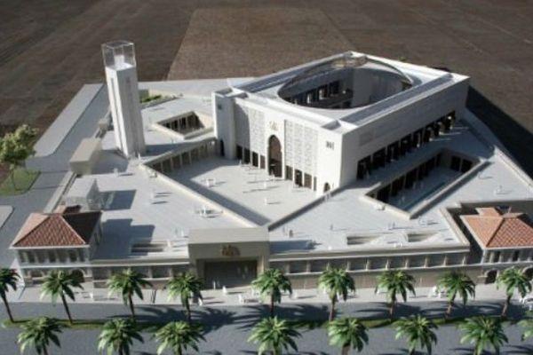 La moquette du projet de Grande Mosquée de Marseille
