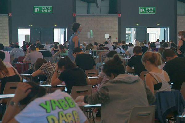 Montpellier - examens pour les étudiants en faculté de médecine - 2020.