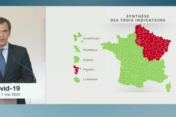 """Ce jeudi 7 mai, Olivier Véran, ministre des Solidarités et de la Santé a dévoilé la carte de déconfinement. La Bourgogne-Franche-Comté est en """"rouge"""". Ses services de réanimation et de soins intensifs sont encore considérés """"en tension""""."""