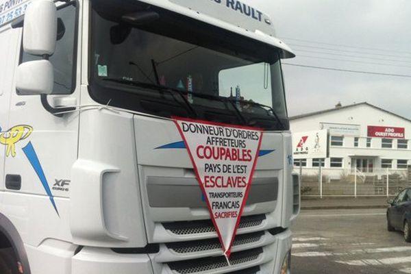 Rennes : Action chauffeurs Routiers contre le dumping social des pays de l'Est