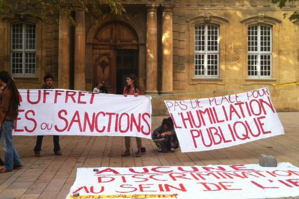 Manifestation des étudiants à Sciences-Po Aix