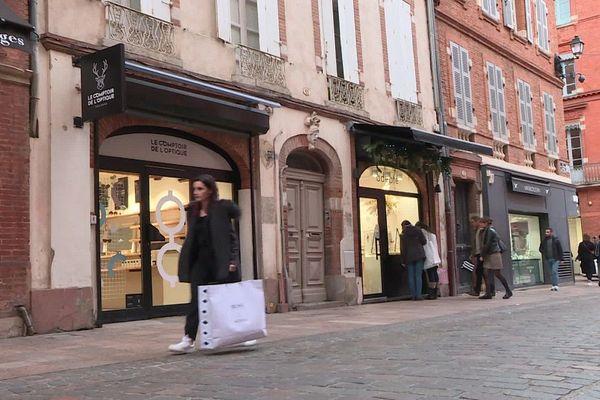 Les ventes en fin d'année n'ont pas été à la hauteur des espérances des commerçants du centre ville de Toulouse.