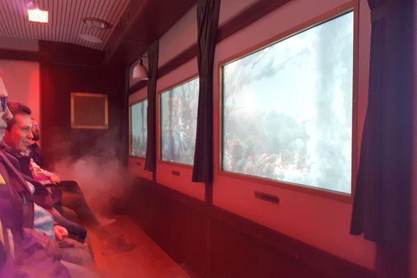 Le Volcan Express simule un voyage à travers une éruption qui se produirait dans la chaîne de Puys