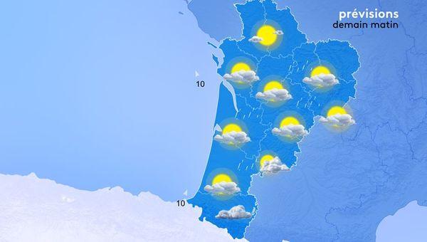 Les températures minimales au lever du jour seront bien fraîches. Il fera de 5 à 10 degrés dans les terres et de 12 à 14 degrés sur la côte.