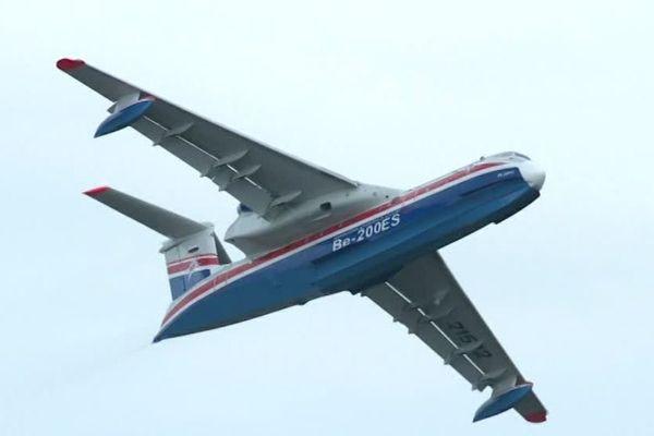 Le modèle russe BERIEV dans le ciel de Biscarrosse.