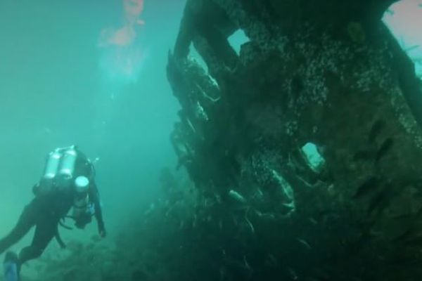 L'épave du paquebot Afrique, à 47 mètres de fond, attire de nombreux plongeurs