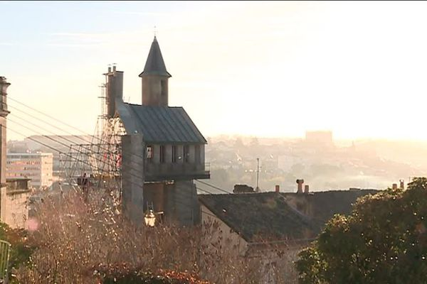 Les décors ont été réalisés la semaine passée au cœur du Vieil Angoulême