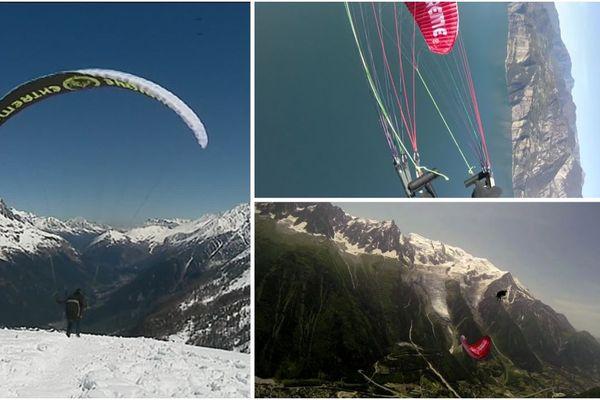 Parapente acrobatique, speed-riding extrême : Nicolas Blanchard réalise d'impressionnantes performances.