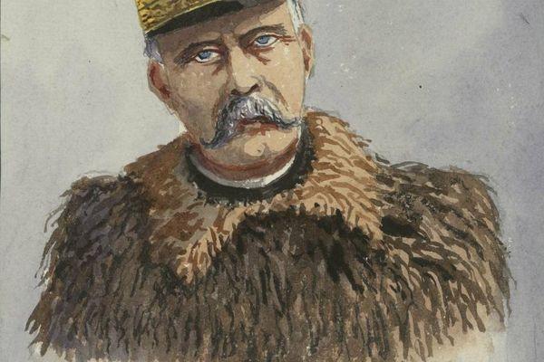 """Caricature de Pétain - Illustration faite par le Lieutenant Colonel Guillaume Cullard dans son """"Journal d'un Dijonnais 1914-1919"""""""