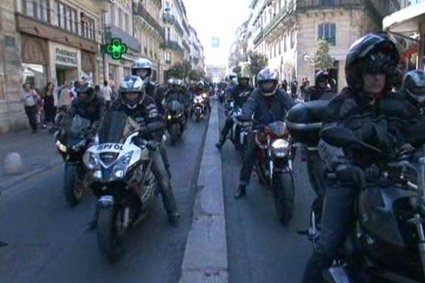 Les motards ont dénoncé le projet de baisse de la vitesse autorisée