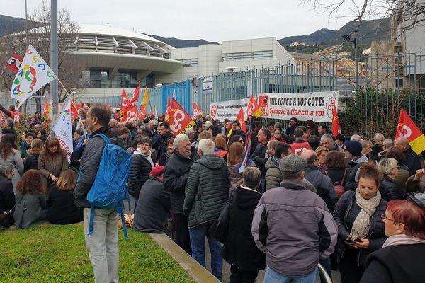 Manifestation du 16 janvier à Bastia contre la réforme des retraites.