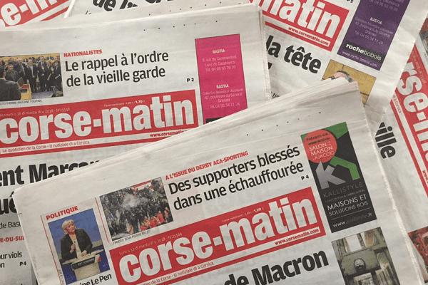 Illustration. CM Holding est actionnaire minoritaire au capital de Corse-Matin.