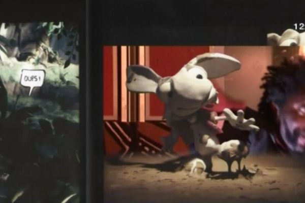 Chyc Polhit Mamfoumbi et son lapin zinzin.