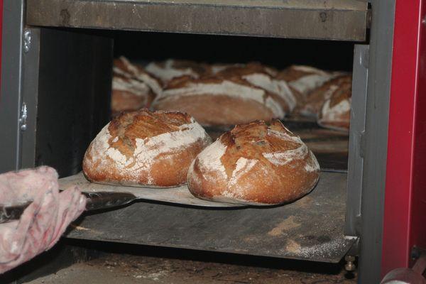 Dans ce four à deux étages, 80 pains sont enfournés en même temps