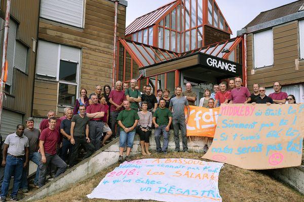 Le 29/08/2018 Saint Symphorien- sur-Coise, malgré leurs multiples mobilisations le salariés n'auront pas réussi à sauver leur entreprise