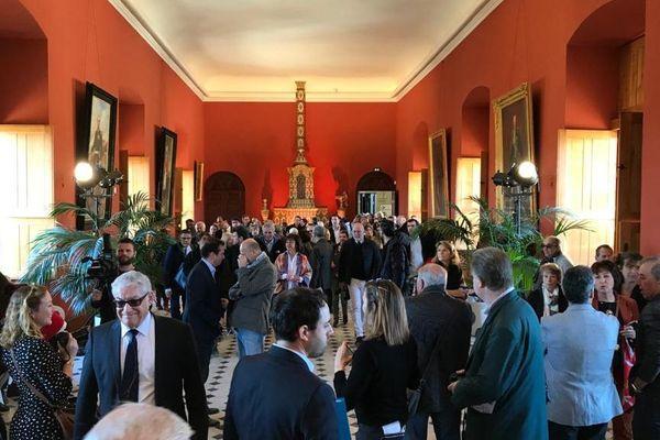 Une foule importante s'est pressée dans le salon des Etats du Languedoc, entièrement rénovée.