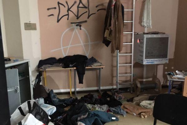 Montpellier - L'intérieur de l'université Paul-Valéry après l'occupation - 23 avril 2018.