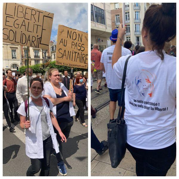 Les revendications s'affichent sur les pancartes et t-shirts